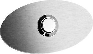 Edelstahl-Look-Klingel-Kontaktplatte-Tuerklingel-Klingelknopf-Klingelschild-o-LED