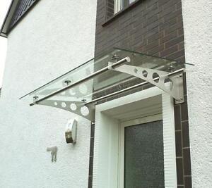 edelstahl vordach vord cher inkl vsg glas ebay. Black Bedroom Furniture Sets. Home Design Ideas