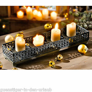 edler kerzenteller f r 4 kerzen kerzenhalter kerzentablett. Black Bedroom Furniture Sets. Home Design Ideas