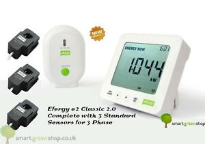 Efergy-e2-Classic-2-0-3-Phase-Wireless-Energy-Monitor-New-Model-Three-Sensors