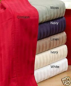 Egyptian Cotton Sheet Set 800 Thread Count Deep Pocket Solid and Stripe Sheets in Home & Garden, Bedding, Sheets & Pillowcases | eBay