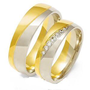 Eheringe Trauringe 585 er Gold Bicolor Massiv Gelb/Weissgold  eBay