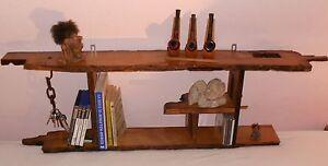 eichenholz regal b cherregal eichenbalken wandregal eiche 125x16cm ebay. Black Bedroom Furniture Sets. Home Design Ideas
