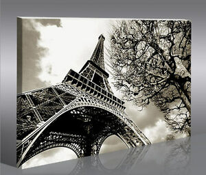 eiffelturm paris 1p bild bilder auf leinwand wandbild poster ebay. Black Bedroom Furniture Sets. Home Design Ideas