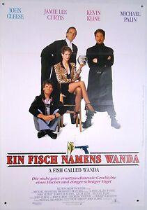 Ein Fisch namens Wanda A FISH CALLED WANDA Jamie Lee Curtis - Filmplakat DIN A1 - Jülich, Deutschland - Ein Fisch namens Wanda A FISH CALLED WANDA Jamie Lee Curtis - Filmplakat DIN A1 - Jülich, Deutschland