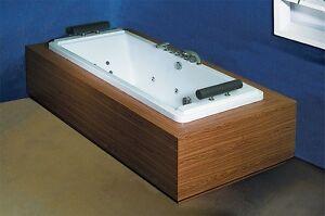 Einbau whirlpool badewanne colorado 200 x 90 cm rechteck hydromassage armaturen ebay - Einbau whirlpool ...