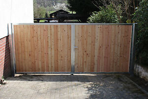 Einfahrtstor-Hoftor-Gartentor-3-00m-x-2-00m-fuer-eine-bauseitige-Holzfuellung-Tor