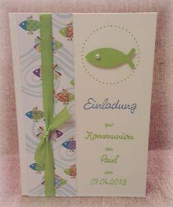 Einladung-Einladungskarte-Kommunion-Konfirmation-Fisch-maigruen ...
