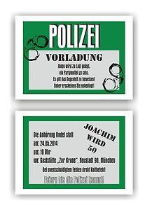 Einladung Geburtstag Polizei   alexisaltest