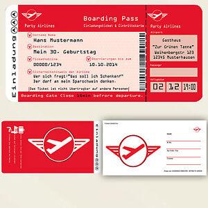 en geburtstag einladung ticket party geburtstagsein ladung 40 30, Einladungsentwurf