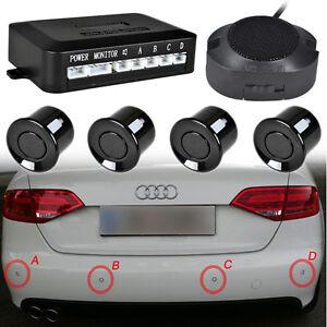 einparkhilfe 4 sensoren zum nachr sten hinten parkhilfe r ckfahrwarner audio pdc ebay. Black Bedroom Furniture Sets. Home Design Ideas