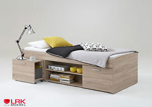 Einzelbett carlo bett fmd mit stauraum kinderbett 90 x 200 for Kinderzimmer carlo