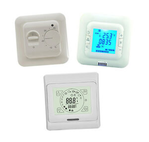 Electric Heating Thermostats 16A - Air or Under floor with Floor Sensor