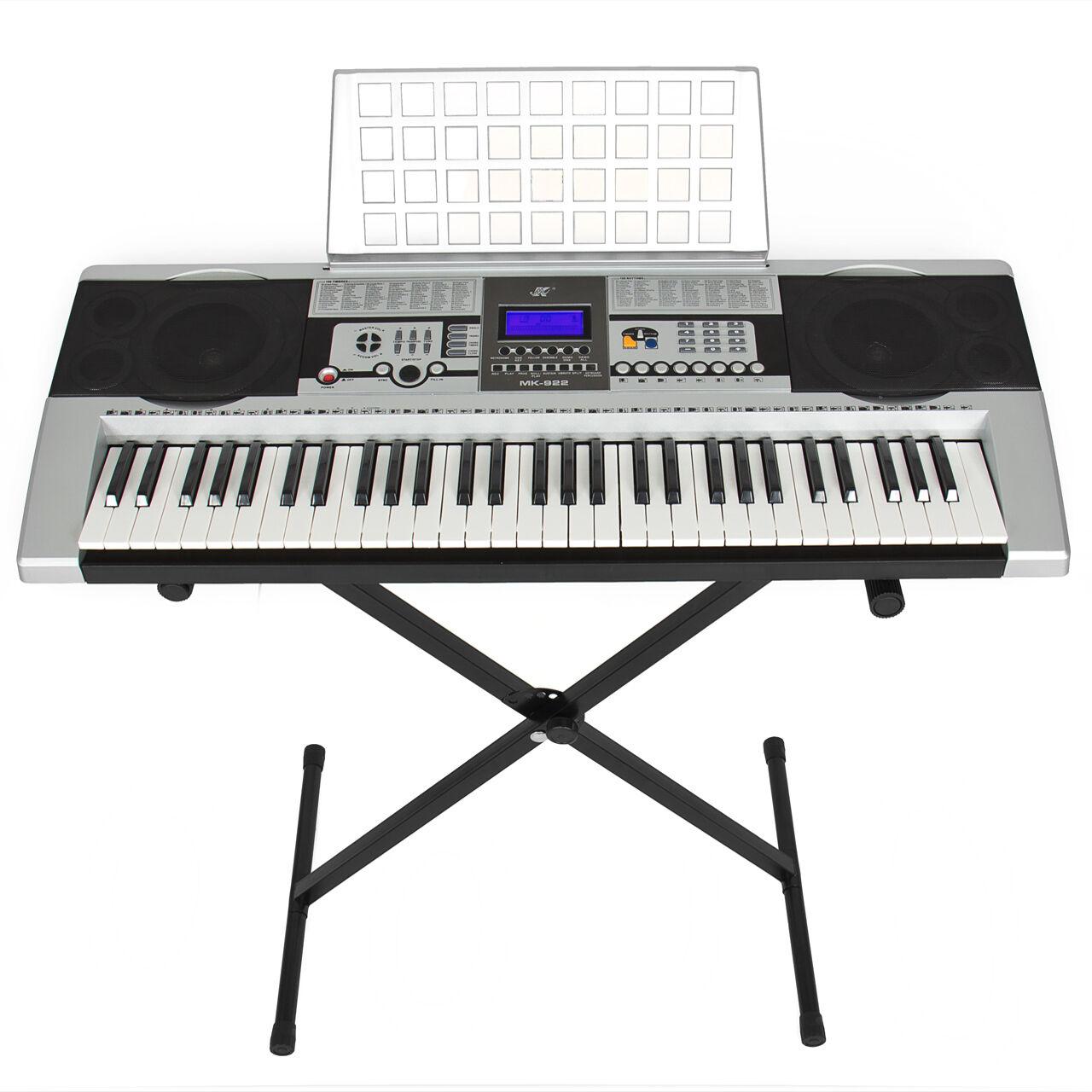 Electronic Piano Keyboard 61 Key Music Key Board Piano With X Stand Heavy Duty