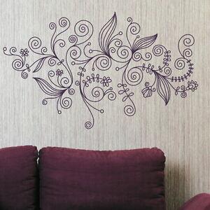 Elegant Floral Wall Transfer Interior Wall Decal Flower