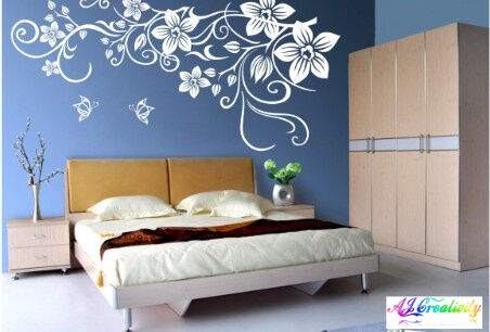 Elegant Flower stickers wall Decal Removable Art Vinyl Windows Home Kids AU Post in Home & Garden, Home Décor, Wall Stickers | eBay