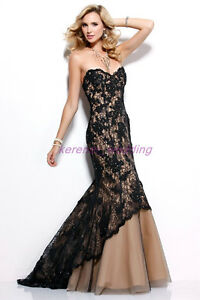 Long Black Maxi Dress on Long Maxi Black Lace Cocktail Party Formal Evening Wedding Prom Dress