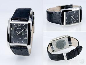 Elegante-Funkarmbanduhr-Junghans-Uhrwerk-Armbanduhr-Edelstahl-Leder-964-4715-78