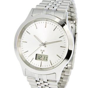 Elegante-Funkuhr-Junghans-Uhrwerk-3-Zeiger-Armbanduhr-Edelstahl-Funk-964-6905