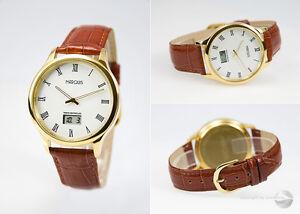 Elegante-Herren-Funkarmbanduhr-deutsches-Funkwerk-Leder-Armbanduhr-964-4702-78