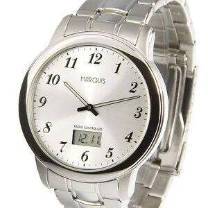 Elegante-Herren-Funkuhr-Junghans-Uhrwerk-Edelstahl-Armbanduhr-Uhr-964-6147