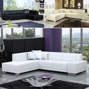 Elegante m bel kunstleder ecksofa ralf eckcouch sofa for Eckcouch kunstleder