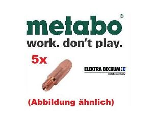 Elektra-Beckum-5x-Elektra-Beckum-Stromduesen-0-6-Kupfer-SET-7-SB-14-SB-24-Metabo