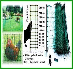 elektrozaun gr n 112cm x 25m strom schutz zaun gegen. Black Bedroom Furniture Sets. Home Design Ideas