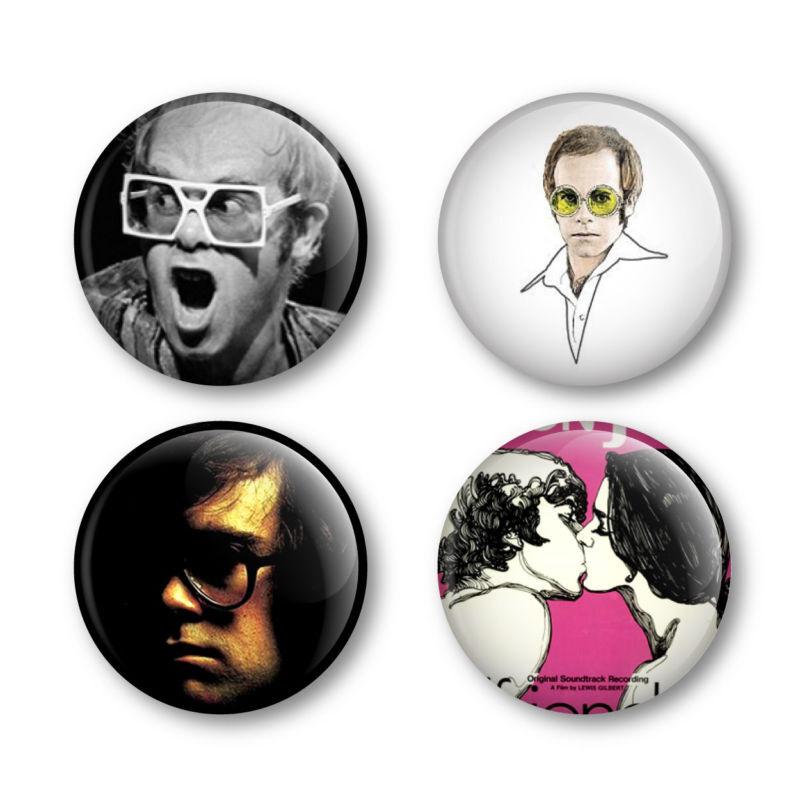 Elton John Badges Buttons Pins Tickets Vinyl Albums