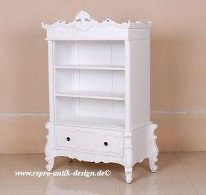 empire antik massivholz b cherschrank barock regal louis xv neu wei barockregal ebay. Black Bedroom Furniture Sets. Home Design Ideas