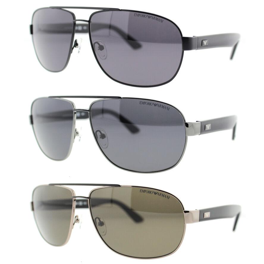 Emporio Armani Mens Polarized Aviator Sunglasses