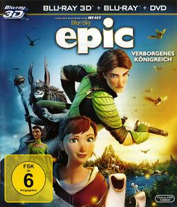 Epic-Verborgenes-Koenigreich-Blu-ray-3D-Blu-ray-Extras-2D-3D-Neu-OVP