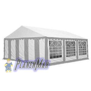 ersatzdach dachplane 4x6 m dach f r partyzelt pavillon zelt gr n wei pvc ebay. Black Bedroom Furniture Sets. Home Design Ideas