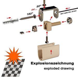 Erweiterung Set Pergola Markise 2 X Seilspanner Extra