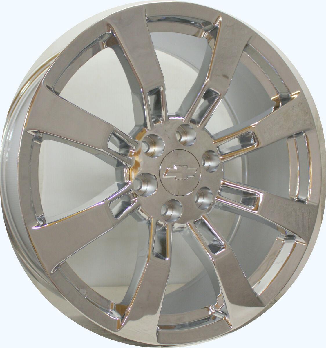 Escalade 22 Chrome Wheels Rims Tahoe Suburban Avalanche Denali Yukon