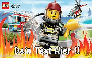 Essbar-Tortenaufleger-Lego-City-Spiel-NEU-Dekoration-mit-Text