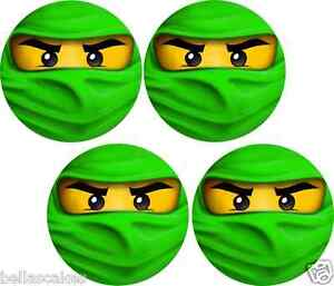 e bar tortenaufleger lego ninjago lloyd gr n tortenbild muffin neu poster dvd ebay. Black Bedroom Furniture Sets. Home Design Ideas