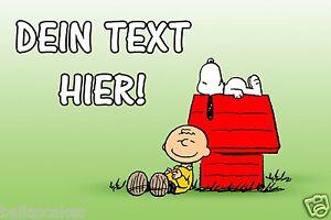 Essbar-Tortenaufleger-Peanuts-Charlie-Brown-Snoopy-Charly-DVD-NEU-Dekomit-Text