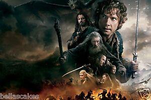 Essbar-Tortenaufleger-The-Der-Hobbit-Dekoration-A4-Kuchen-neu-dvd-1-2-3-kleine