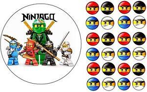 Essbarer-Tortenaufleger-Lego-Chima-Ninjago-DVD-Deko-NEU-Muffin-Tortenbild-cd