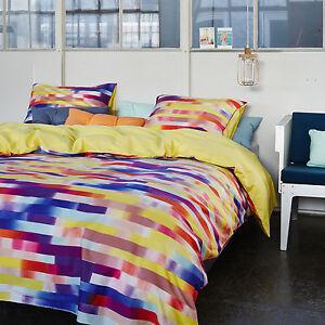 essenza satin bettw sche nola multi 155x220 cm 4 tlg. Black Bedroom Furniture Sets. Home Design Ideas