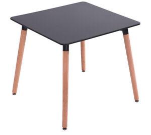 Esstisch Buche Tisch 80 x 80 cm MDF- Designertisch - Retro schwarz ...