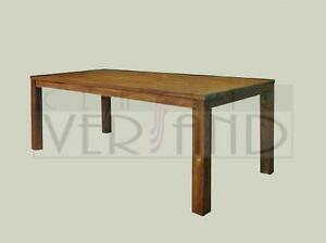 esstisch teakholz massiv rustikal tisch teak holz 100 x 200 cm ebay. Black Bedroom Furniture Sets. Home Design Ideas