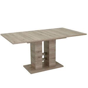 esstisch ausziehbar 160 240 140 220cm s ulentisch sockeltisch tisch helena ebay. Black Bedroom Furniture Sets. Home Design Ideas