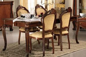 esszimmer essgruppe esstisch 6 st hle beige hochglanz luxus stilm bel italien ebay. Black Bedroom Furniture Sets. Home Design Ideas