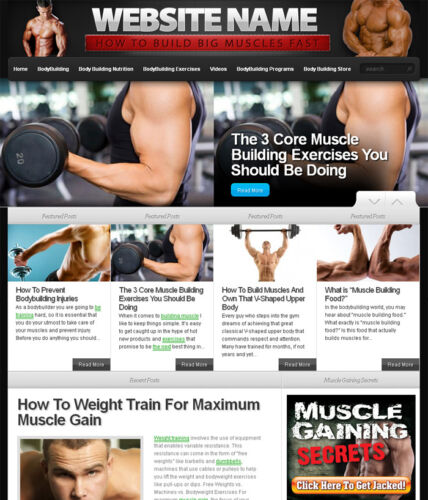 Established BODY BUILDING & WEIGHT TRAINING website for sale in Business & Industrial, Businesses & Websites for Sale, Internet Businesses & Websites | eBay