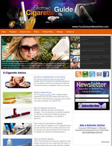 Established 'ELECTRONIC CIGARETTE' Website For Sale ....(Websites by SITEGAP) in Business & Industrial, Businesses & Websites for Sale, Internet Businesses & Websites | eBay