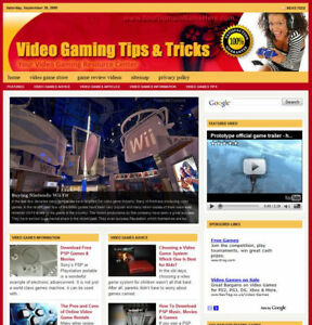 Established 'VIDEO GAMING' Website For Sale ....(Websites by SITEGAP) in Business & Industrial, Businesses & Websites for Sale, Internet Businesses & Websites | eBay