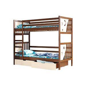 etagenbett kinderbett hochbett kiefer massiv holz jacek ebay. Black Bedroom Furniture Sets. Home Design Ideas