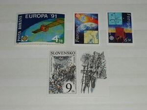 Europa-CEPT-1991-und-1997-3-Laender-siehe-Foto-Detail-postfrisch